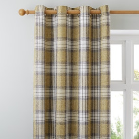 Fyfe Green Eyelet Curtains