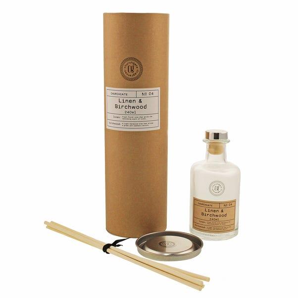 Churchgate Linen and Birchwood Fragrance Diffuser Clear