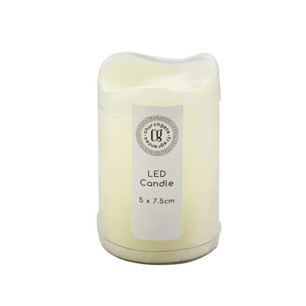 Cream Waved LED Candle Cream