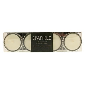 Sparkle Diamante Grapefruit and Patchouli Set of 4 Candles