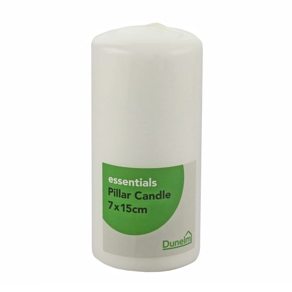 Essentials White Pillar Candle White