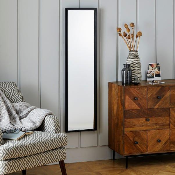 Essentials Full Length Mirror 122x32cm Black Black