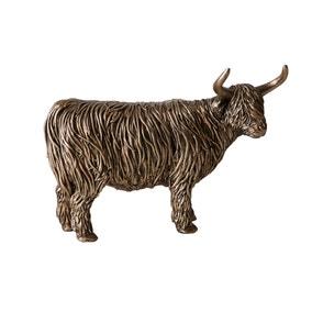 Bronze Highland Cow Ornament