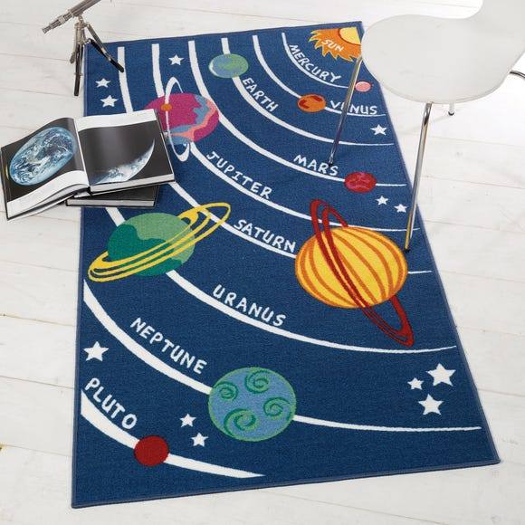 Space Travel Rug Multi Coloured undefined
