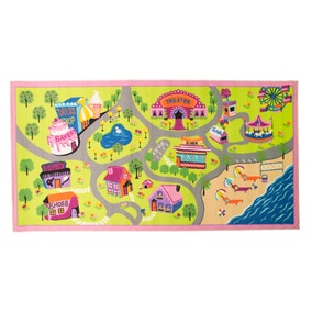 Pink Style Town Rug