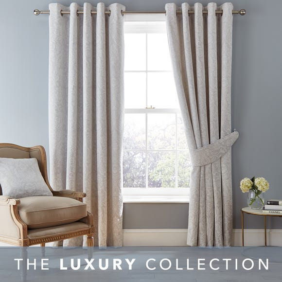 Dorma Winchester Grey Eyelet Curtains Grey undefined