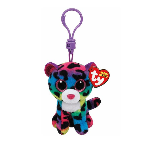 Ty Boo Clip Plush Dotty Leopard Multi Coloured