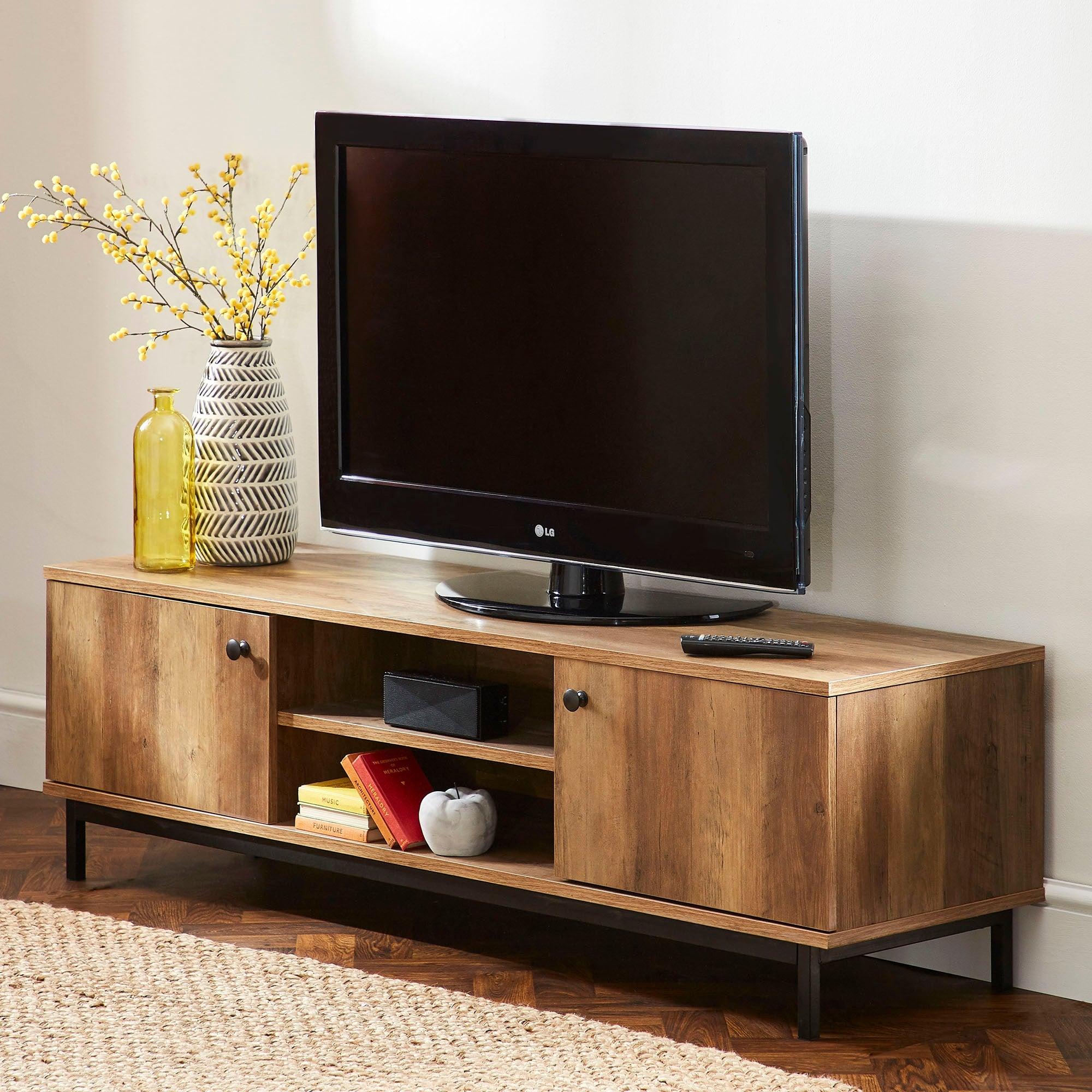 Dunelm Fulton Wide TV Stand Pine |