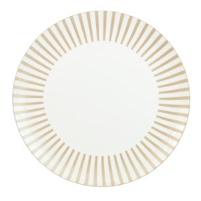 Allure Gold Stripe Dinner Plate
