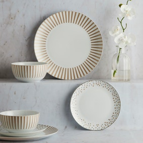 Allure Gold 12 Piece Dinner Set