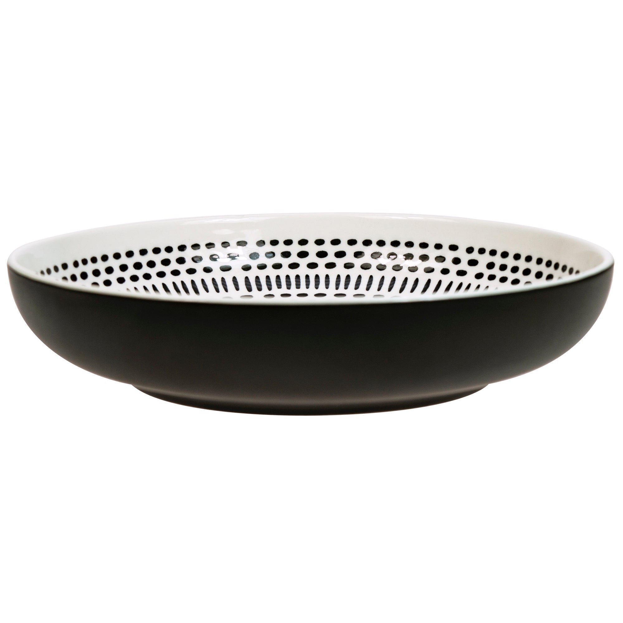 Click to view product details and reviews for Elements Tribal Black Pad Print Pasta Bowl Black.