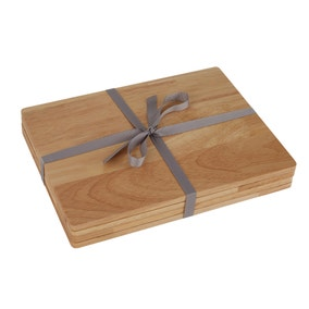 Pack Of 4 Rubberwood Placemats