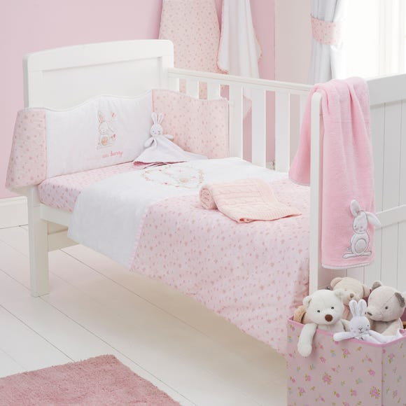 Pretty Little Bunny 4 Tog Cot Quilt Pink