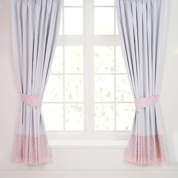 Pretty Little Bunny Blackout Pencil Pleat Curtains  undefined