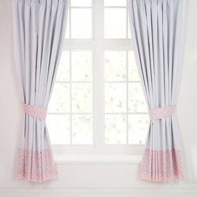 Pretty Little Bunny Blackout Pencil Pleat Curtains