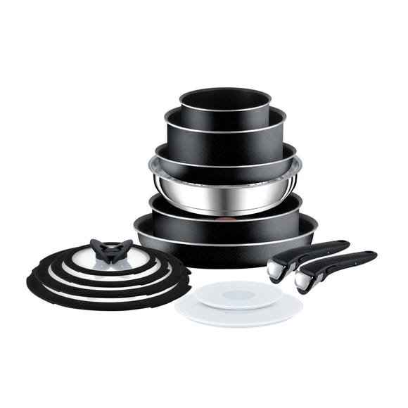Tefal Ingenio 14 Piece Complete Set Black