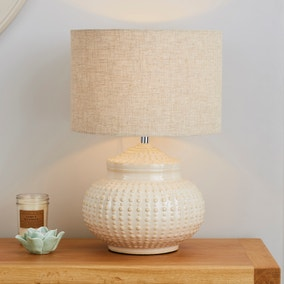Zeeburg Urchin Ceramic Cream Table Lamp