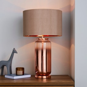 Metalic Ombre Copper Glass Table Lamp