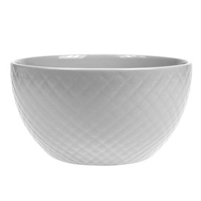 Quilted Grey Bowl