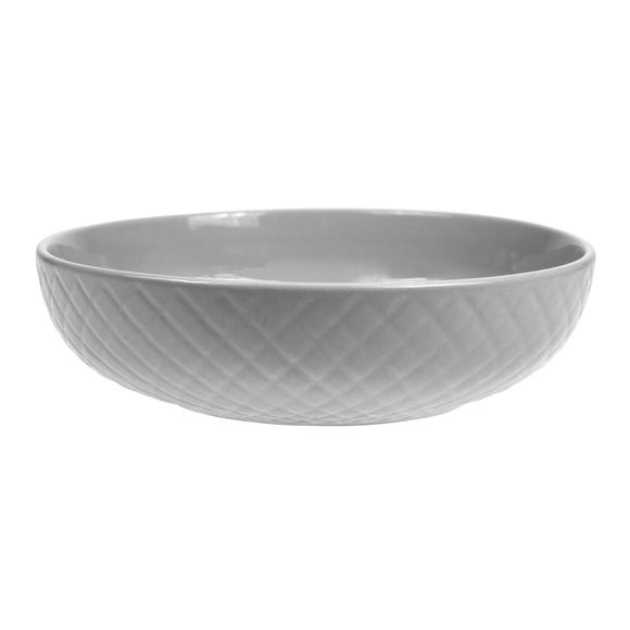 Quilted Grey Pasta Bowl Grey