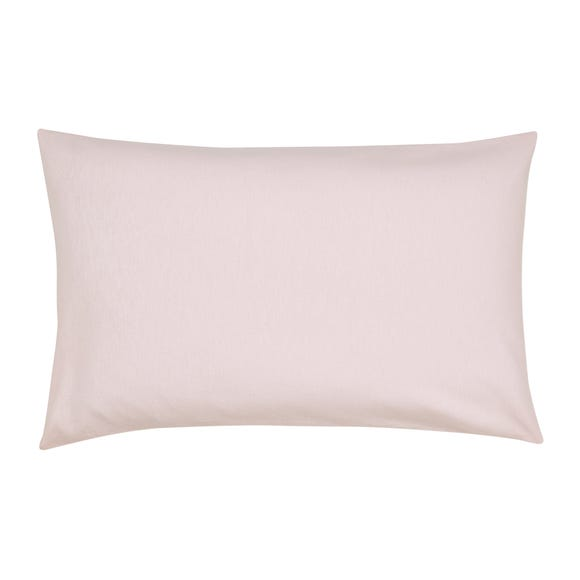 Pink Flannelette Cot Bed Pillowcase Pink