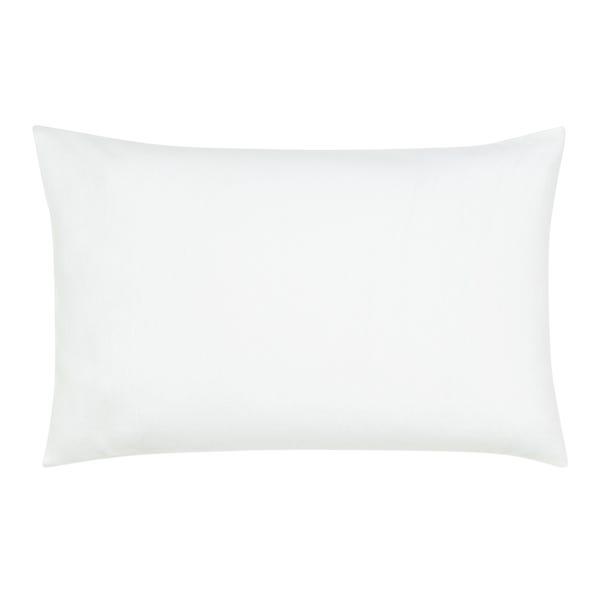 White Flannelette Cot Bed Pillowcase White