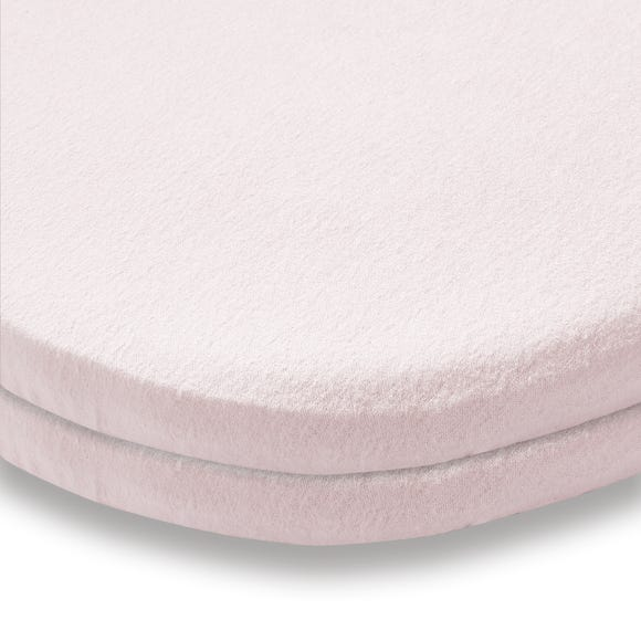 Pack of 2 Pink Flannelette Moses Basket Fitted Sheets Pink