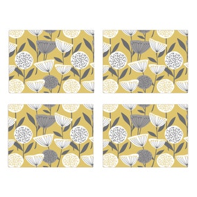 Elements Emmott Ochre Pack Of Four Placemats