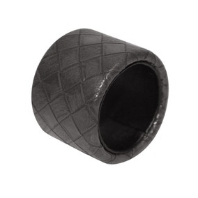 Faux Leather Grey Weave Napkin Ring