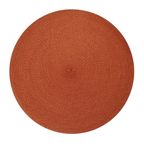 Pack Of Two Round Woven Paprika Placemats