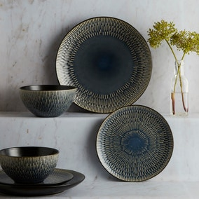 Zen Reactive Glaze 12 Piece Dinner Set