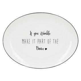 If You Stumble Black Oval Platter