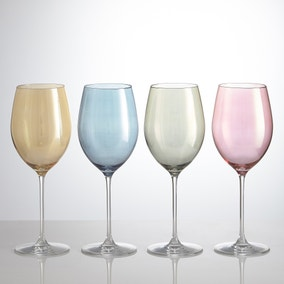 Pack Of Four Lustre Assorted 565ml Wine Glasses