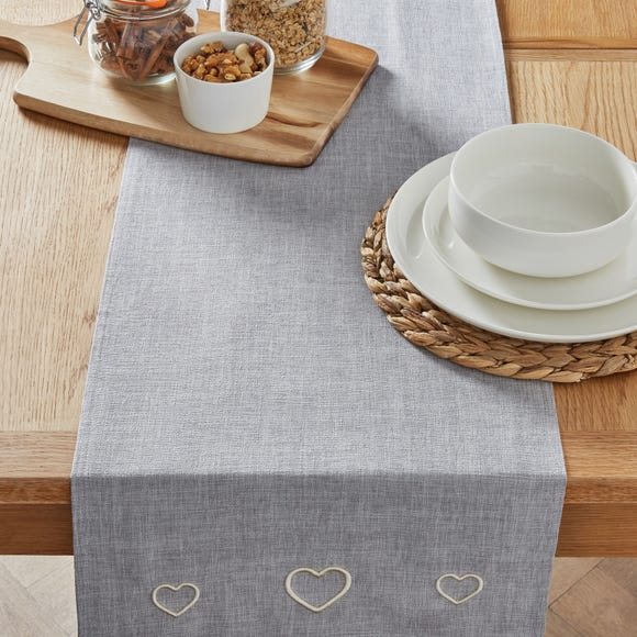 Country Heart Dove Grey Table Runner Dove grey