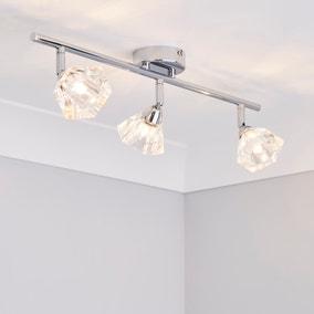 Khobi 3 Light Glass Spotlight Bar