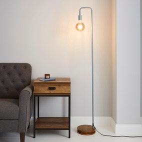 Berko Grey Floor Lamp