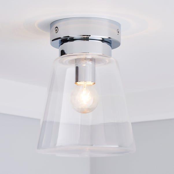 Delavin 1 Light Pendant Glass Flush Bathroom Ceiling ...