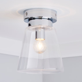 Delavin 1 Light Pendant Glass Flush Bathroom Ceiling Fitting
