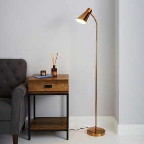 Kurtis Gold Floor Lamp