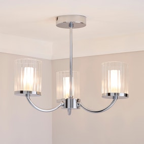 Mavia 3 Light Glass Bathroom Ceiling Fitting