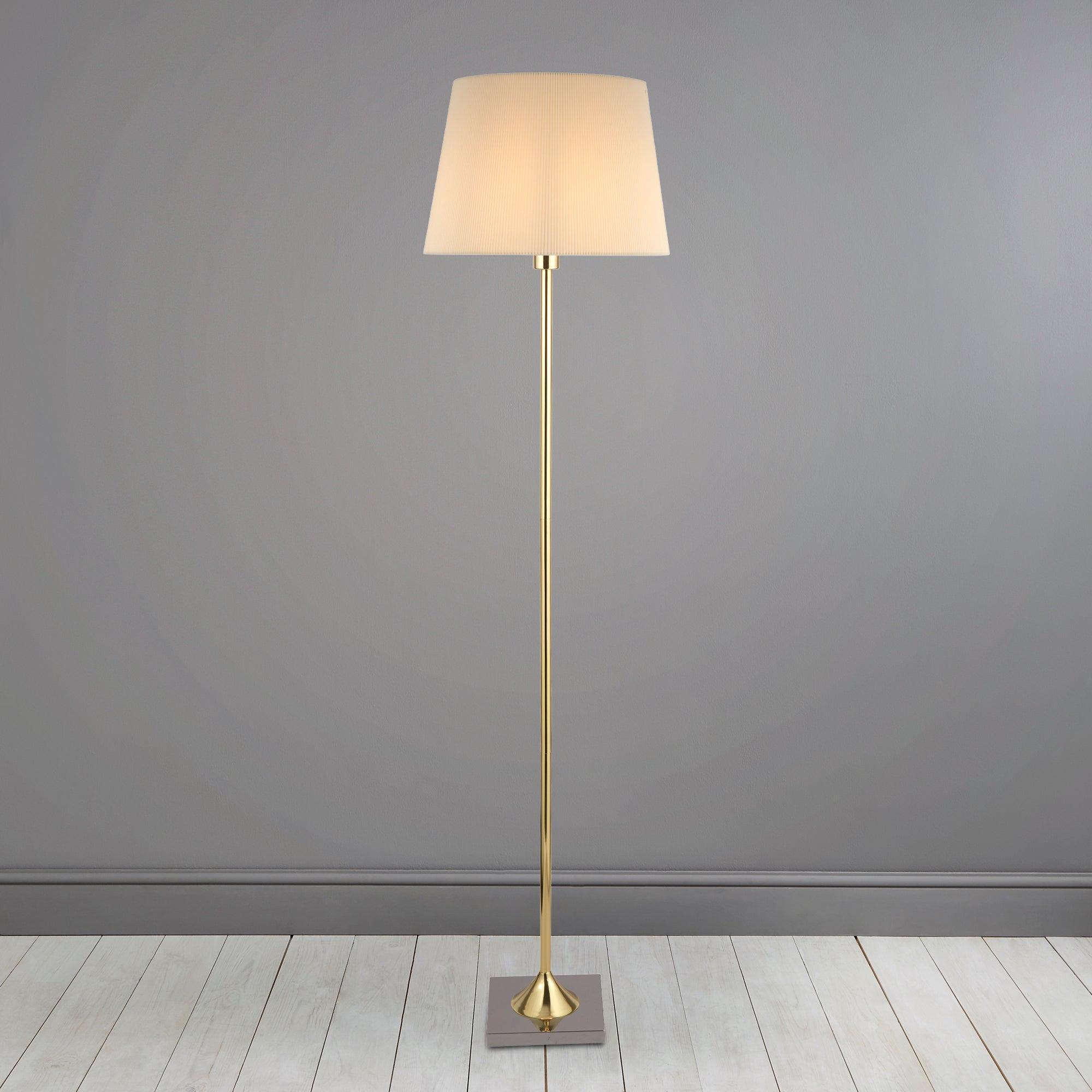 Washington Brushed Gold Floor Lamp Gold