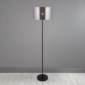 Volos Shiny Black Floor Lamp
