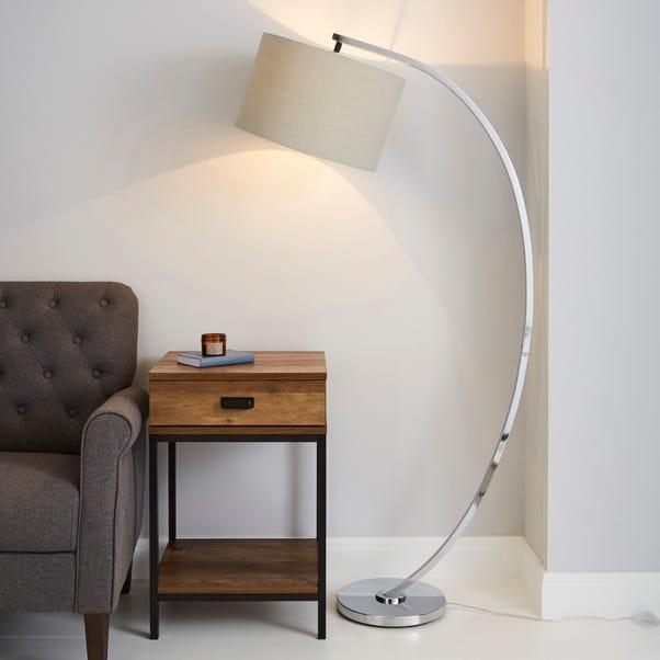 Meson Chrome Floor Lamp Grey