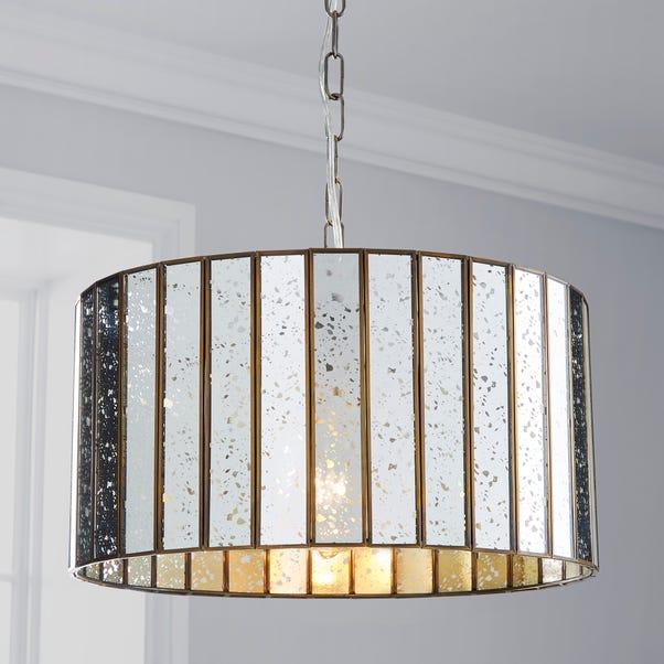 Seraphina 1 Light Mercury Glass Pendant Ceiling Fitting Gold