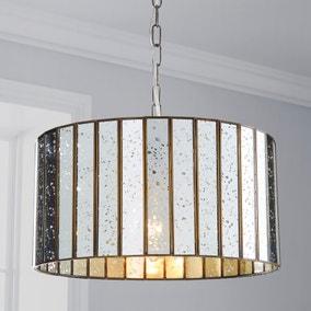 Seraphina 1 Light Mercury Glass Pendant Ceiling Fitting