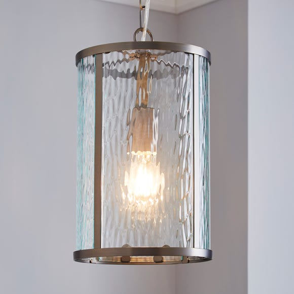 Lannister 1 Light Pendant Glass Ceiling Fitting Clear