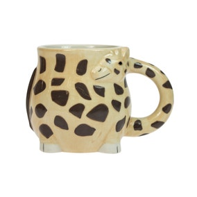Giraffe Novelty Brown Mug