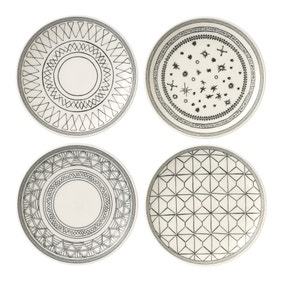 Royal Doulton Set Of Four Charcoal Plates