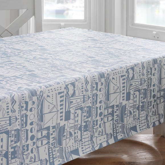 Lighthouse Rectangle PVC Tablecloth MultiColoured undefined