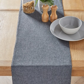 Barkweave Charcoal Table Runner